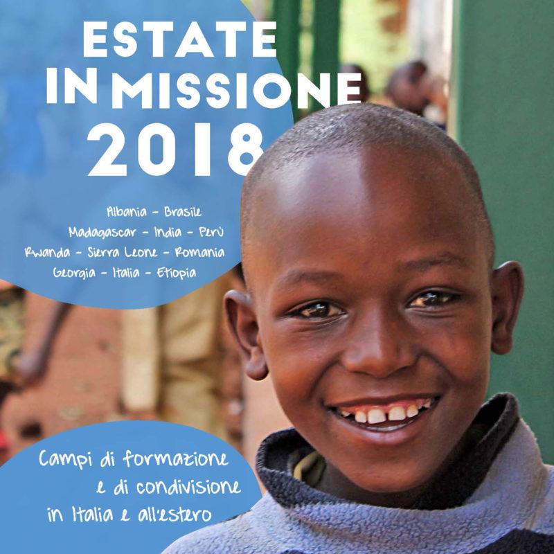 La copertina dell'opuscolo Estate in Missione 2018