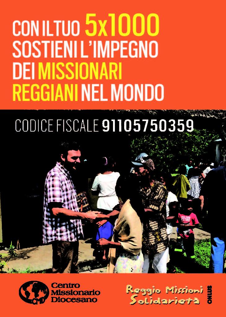 con il tuo 5x1000 a Reggio Missioni Onlus sostieni l'impegno dei missionari
