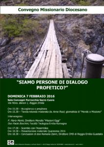 Siamo persone di dialogo profetico? la domanda del Convegno missionario diocesano 2016