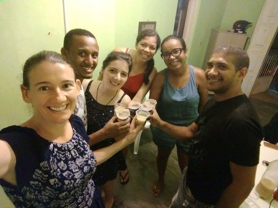 Vanessa festeggia il suo rientro con alcuni amici