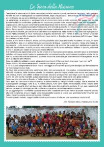 la scheda testimonianza sul Brasile