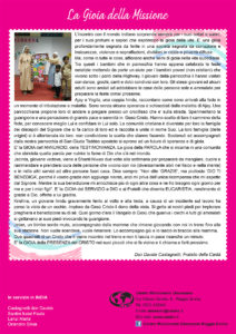 Testimonianza dall'India Gioia della missione