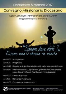 domenica 5 marzo 2017 a Reggio Emilia, il poster
