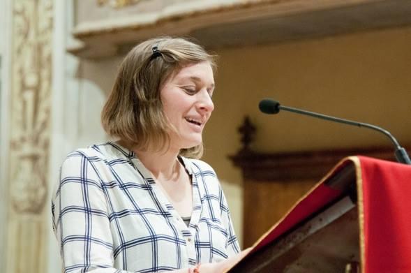 Virginia Beltrami, rientrata dall'Albania, testimonia alla veglia missionari martiri 2018