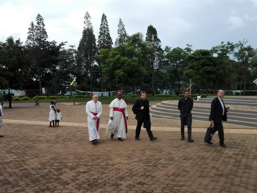l'arrivo dei Vescovi alla cattedrale