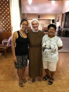 le due volontarie responsabili del progetto Arcoiris